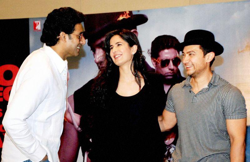 Aamir Khan, Katrina Kaif, Abhishek Bachchan