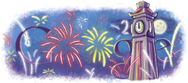Googles New Year Doodle