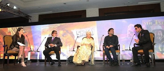Amitabh Bachchan, AR Rahman, Shah Rukh Khan and veteran actress Waheeda Rahman recently shared the stage as part of a media conclave