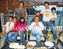 Salman Khan, Alizeh, director Salim Khan and (behind) actor Arbaaz Khan, Ayaan, actor Sohail Khan and Arhaan got together to celebrate the Eid festival at their residence in Mumbai on October 12, 2007.