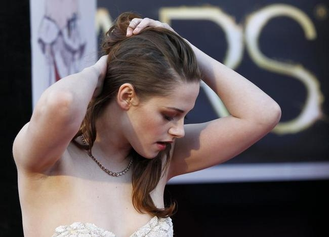 Kristen Stewart arrives at the 85th Academy Awards in Hollywood