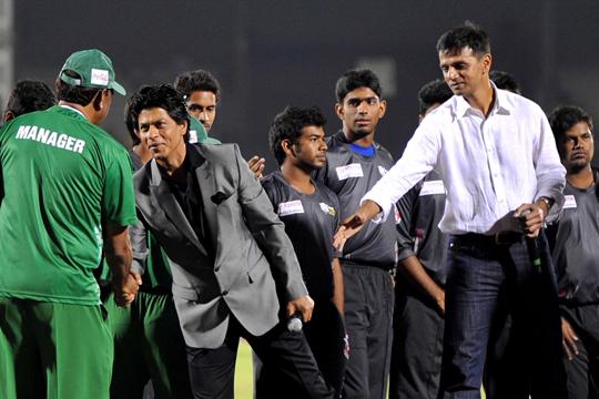 Shah Rukh Khan and Rahul Dravid