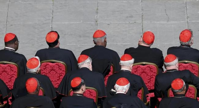 Cardinals attend the last general audience of Pope Benedict XVI in Saint Peter