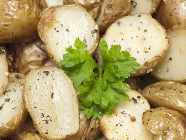 Crispy, Salted Baby Potatoes