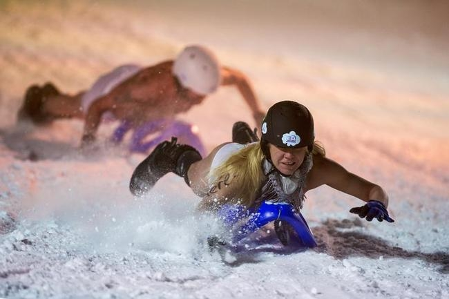 2013 Naked Snow-Sledding Race