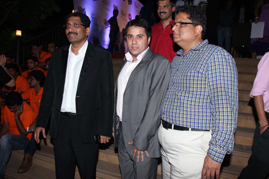 Sudhakar Shetty (Chairman-Sahana Group) Waahiid A. Khan and Naveen Shetty (MCA Member)