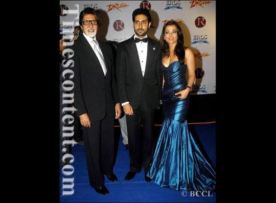 during the premiere of Hindi flick