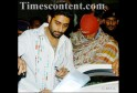 Amitabh Bachchan leaves Escorts Hospital with his son - actor Abhishek, after being discharged in New Delhi on November 28, 2005.