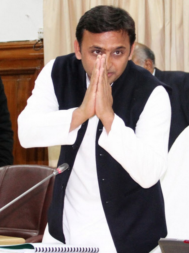 Chief Minister Akhilesh Yadav presenting annual budget 2013-2014 speech at the vidhan sabha in Lucknow.