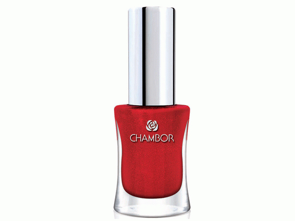 bright red nail enamel by Chambor