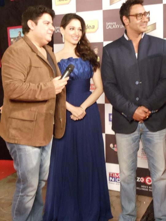 Sajid Khan, Tamannah, Ajay Devgn