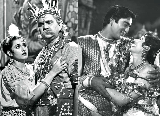 Madhubala with Murad in Phagun and with Sunil Dutt in Jaag Utha Insaan