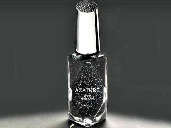Azature's black diamond nail polish