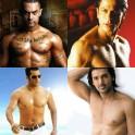bare-chested men