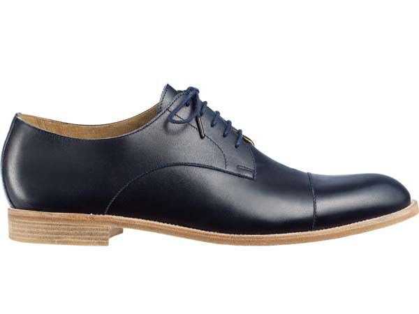 Black leather oxfords by Hermes