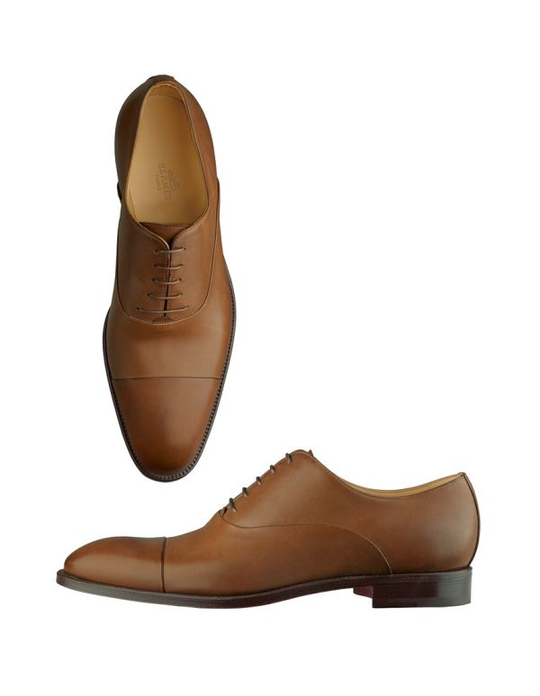Calfskin oxfords by Hermes