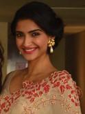 Sonam Kapoor in a pearl-drop earrings by Viange