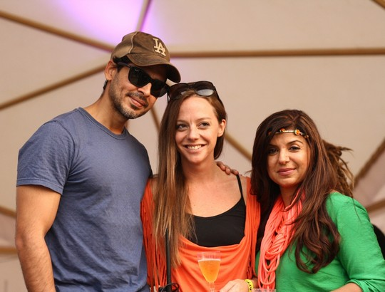 Dino Morea; Cecilia Oldne, Global Brand Ambassador, Head - International Business and Babita Malkani at SulaFest 2013