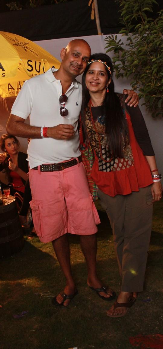 Rajeev Samant, Founder & CEO at Syla Vineyards and Sameer Malhotra at SulaFest 2013