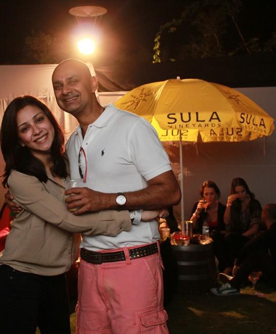 Amrita Puri; Rajeev Samant, Founder & CEO at Sula Vineyards at SulaFest 2013