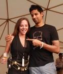 Cecilia Oldne, Global Brand Ambassador & Head - International Business along with Mukul Deora at SulaFest 2013