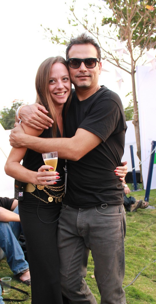 Cecilia Oldne, Global Brand Ambassador & Head - International Business, Sula Vineyards along with Nicolo Morea at SulaFest 2013