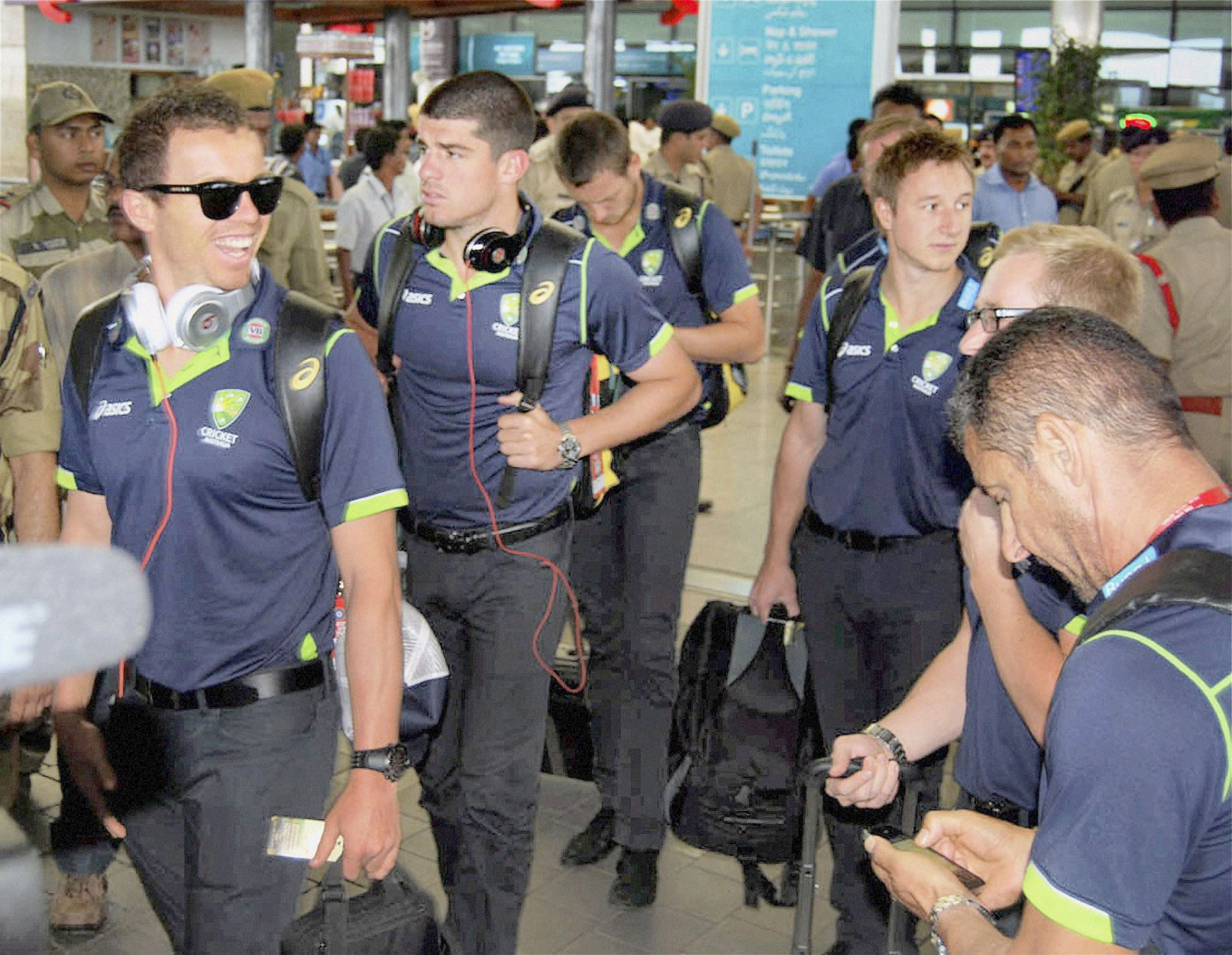 Australians Reach Hyderabad