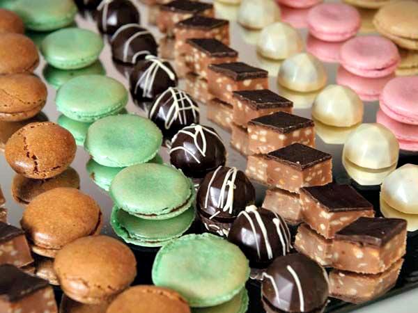 hand-rolled chocolates