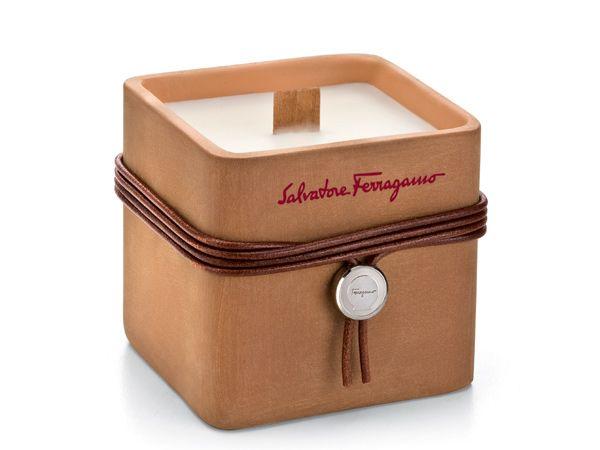 Ferragamo's Terracotta Cubic Scented Candle