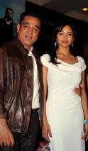 Kamal Haasan and Pooja Kumar