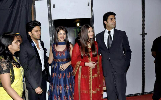 RITEISH-GENELIA AND ABHISHEK-AISHWARYA