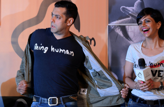 SALMAN KHAN AND MANDIRA BEDI