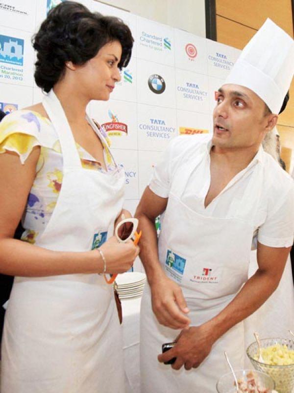 Gul Panag and Rahul Bose