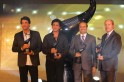 Shiamak Davar, Shah Rukh Khan, Vineet Jain, MD, Times of India Group and Jim Nickel, Deputy Hugh Commissioner and Acting Consul General on Canada at the launch of The Times of India Film Awards