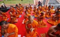 Buddhist Monks at the Mahabodhi Society came together to offer prayers for victims of the recent serial blasts that took place at the Great Awakening Temple, Bodh Gaya