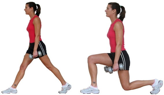 Workouts: 20 Best Workouts for Sexy Toned Thighs: Lunges