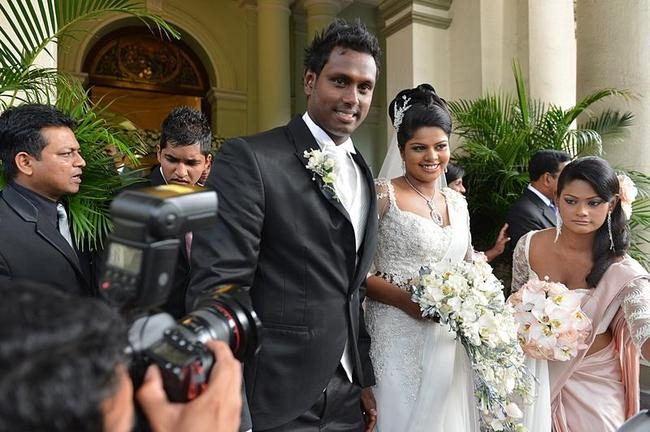 Angelo Mathews Gets Married