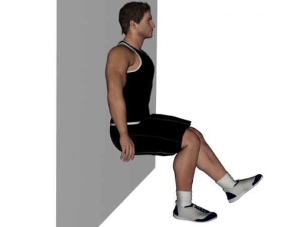 Workouts: 20 Best Workouts for Sexy Toned Thighs :Static squats against the wall.