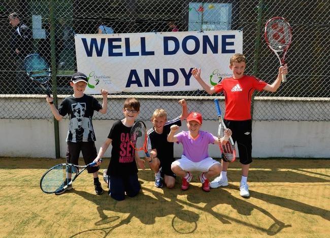 Andy Murray winning Wimbledon Reaction in Dunblane