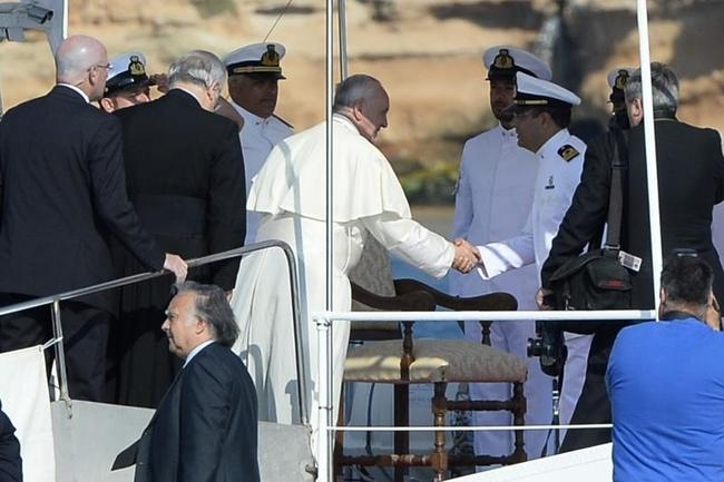 ITALY-POPE-IMMIGRATION-REFUGEE-LAMPEDUSA