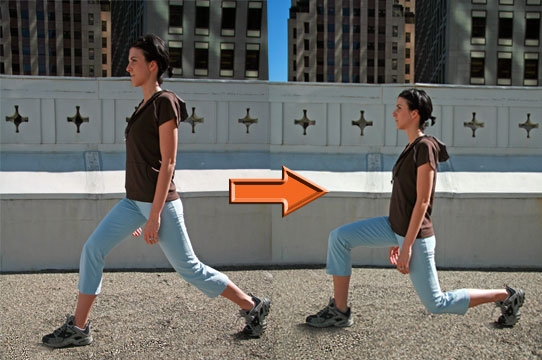 Home Workouts: 20 Best Workouts for Sexy Toned Thighs : Reverse lunges