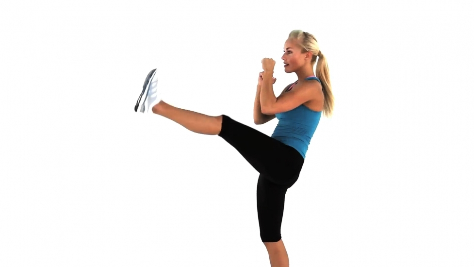 Home Workouts: 20 Best Workouts for Sexy Toned Thighs : Squats & kicks