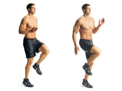 Top Home Cardio Workouts # 8: High knees