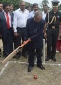 Pranab Mukherjee Plays Cricket