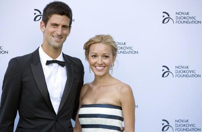 Novak Djokovic and his girlfriend Jelena Ristic