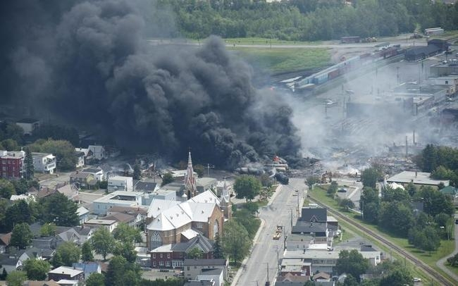 Train Explodes In Canada