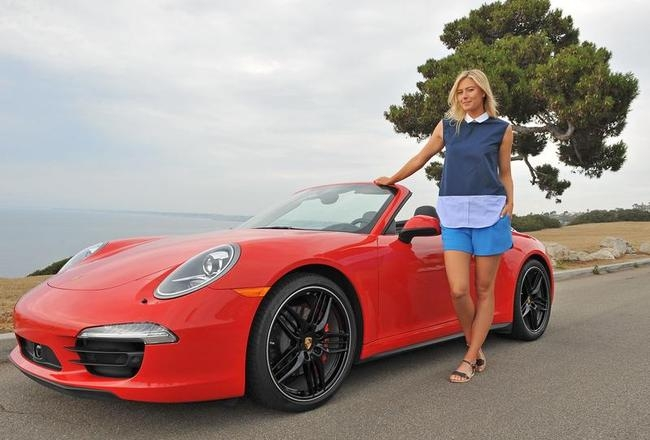 Maria Sharapova At Porsche Shooting In California