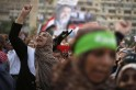 Supporters of deposed Egyptian President Mohamed Mursi attend a protest outside the Rabaa Adawiya mosque in Cairo