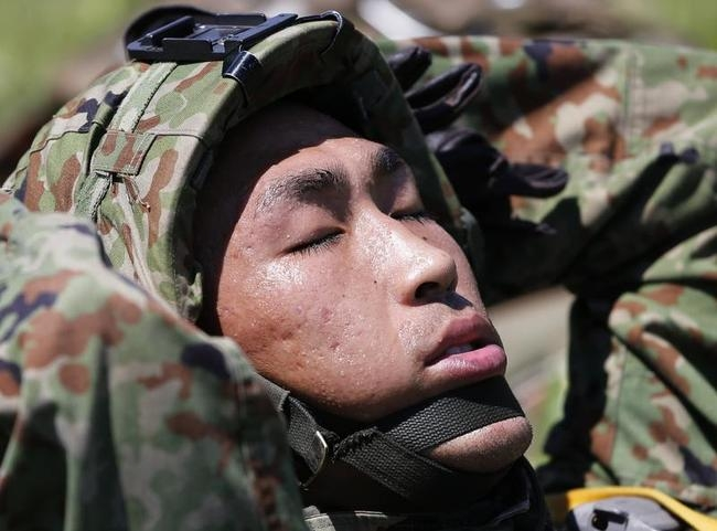 Sweltering Japanese Ground Self-Defense Force