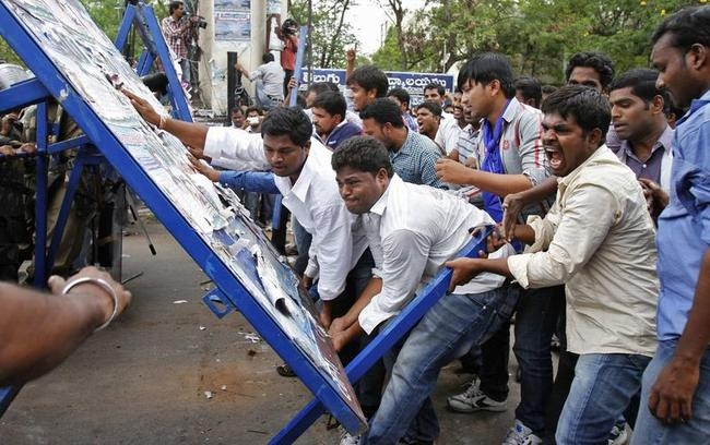 Telangana Struggle: In Pictures